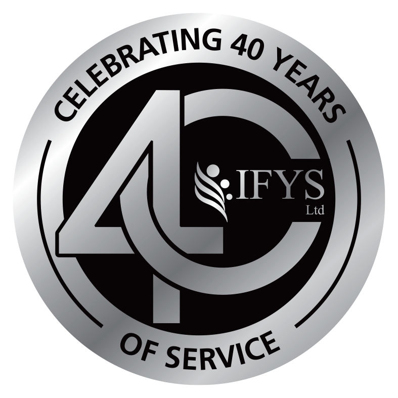 IFYS 40 years of service badge